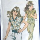 Kwik Sew Sewing Pattern 1144 Girl's Top Short Sleeve Rib Bottom Uncut 8-14 Knit