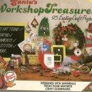Santa's Workshop Treasures Plaid 8255 Craft Book Ornaments Wreath