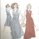 Kwik Sew Pattern 929 Vest Skirt Pockets Back Tie Reversible 6-12 Uncut