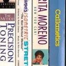 Lot 4 Exercise Fitness VHS tape Precision Toning Rita Moreno Callanettics Mann