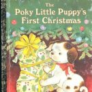 The Poky Little Puppy's First Christmas Little Golden book 1993 Korman