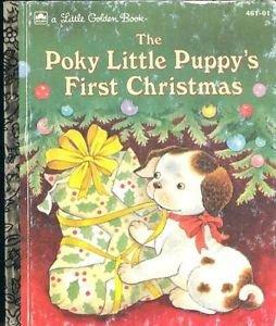 The Poky Little Puppy's First Christmas Little Golden book 1993 Korman