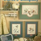 Three's Company Cross Stitch Sheep Lamb Goose Leisure Arts 470