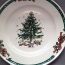 Christmas Village Holiday Tree Dinner Plates Set Of 4 Large Toys Children Party