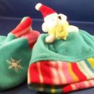 New Hat Set Pocket in Hat for Christmas Bear Plush Mittens Gift 2-4 years
