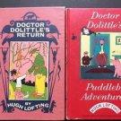 Doctor Dolittle's Book Lot 2 Puddleby Adventure Returns Hugh Lofting Vintage HC
