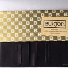Buxton Black Leather Cowhide Wallet New Box Vintage Soft Bifold Valentine Gift