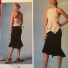 Vogue Sewing Pattern V1451 Misses Cross Back Top Skirt Size 4-12 Donna Karan