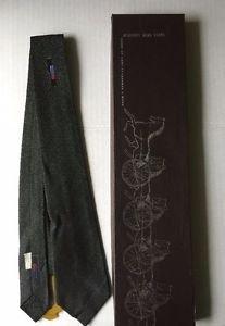 Tie Necktie Black White Variegated Abstract Design Red Blue Skinny Narrow VTG