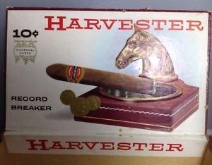 Antique Vintage Harvester Record Breaker Cigar Box 10 cents Horse US Blue Stamp