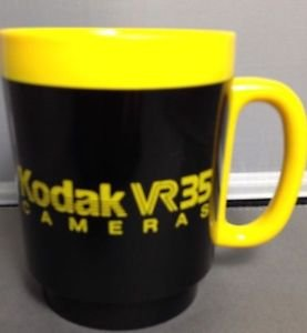 Kodak Camera VR 35 Coffee Mug Cup Thermo Serv Rochester New York Yellow Vintage