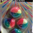 Yo Yo 4 Pack Party Favor Rainbow Colors New Old Stock Stocking Stuffer Toy Game