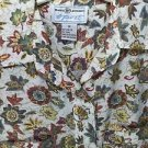 Blouse Short Sleeve Autumn Color Floral Size M Rust Yellow Brown Beige Pockets