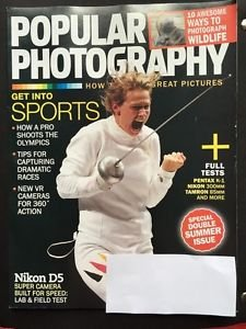 Popular Photography Magazine July August 2016 New Get into Sports Nikon D5