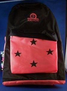 Back Pack Pac Jordache New Tags Vintage Orange Black Back to School Stars Zip