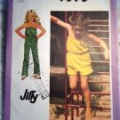 Simplicty Sewing Pattern 9395 Jumpsuit Size 4 Jiffy Easy Vintage1980 Summer Girl