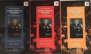 Leonard Bernstein's Young People's Concerts 3 VHS Music Orchestra Classical NY
