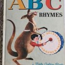 A B C Rhymes A edition 1964 Little Golden Book
