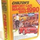 Chilton's Import Car Manual, 1983-90 Chilton's Auto Service HC 1989