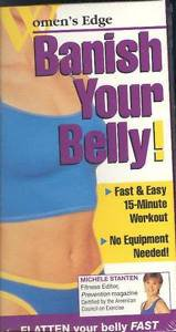 Banish Your Belly Women's Edge VHS New  Exercise