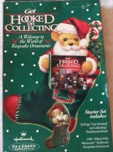 Hallmark Keepsake Ornaments Get Hooked on Collecting Set Book 1996 Ornament St..