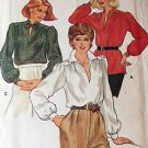 Butterick Sewing Pattern 4089 Blouse Slit Neckline Collar Vintage 1970's Sz 18