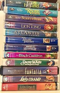 Disney VHS 12 Tapes Diamond Classics Masterpiece Angles Outfield Cauldron Beauty