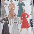 McCalls Sewing Pattern 8295 Dress Gown Shirtwaist Size 18 Ruffle Neck Tie