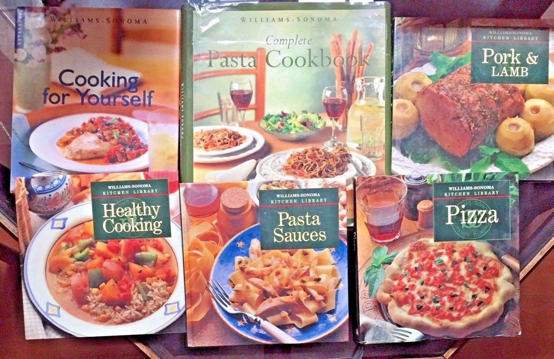 Williams Sonoma 6 Cookbook Kitchen Library Lifestyles Complete HC DJ Pasta Pork