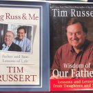 Tim Russert Hardcover 2 Book Lot Wisdom of Our Fathers Big Russ & Me Buffalo NBC