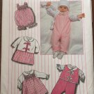Simplicity Sewing Pattern 6666 Baby Girl Layette Hat Pants Vest Ruffle Blouse
