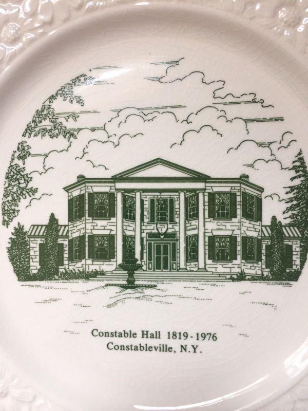 Constable Hall New York Plate 1819-1976 World Wide Art Studios Souvenir Green