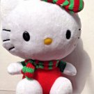 TY Hello Kitty Christmas Cat Sanrio Stocking Stuff 6 inches tall 2012