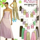 Simplicity Sewing Pattern 9775 Juniors Evening Party Long Skirt Sexy Top 11-16
