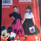 Simplicity Sewing Pattern 9431 Circle Skirt Disney Micky Minnie Mouse Appliques