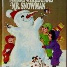 Merry Christmas Mr Snowman Irma Wilde Wonder Book 1976