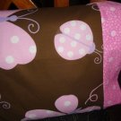 Butterflys and Ladybugs Kids/Travel size Pillowcase