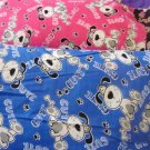 CUTE DOG Kids Travel Pillowcase YOUR CHOICE PINK OR BLUE