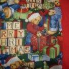 Merry Christmas Blue Jean Teddy kids/travel pillowcase