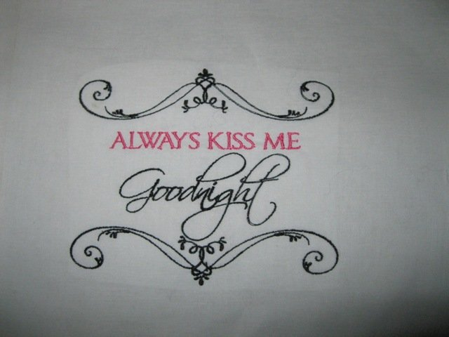 Always Kiss me Goodnight Kids/Travel pillowcase
