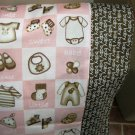 NEW Baby Diva Pink and Brown MINI Pillowcase kids/travel pillowcase