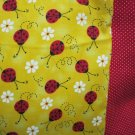 NEW LadyBugs on Yellow MINI Pillowcase kids/travel pillowcase