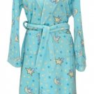 FLEECE SHOWER ROBE - BLUE
