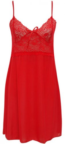 LACEY BABYDOLL NIGHTGOWN - RED