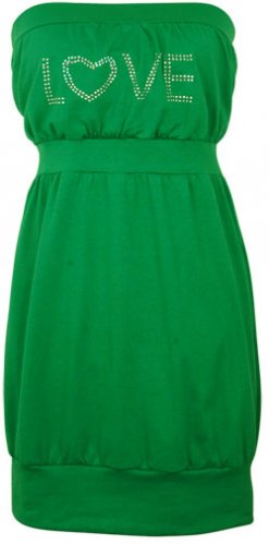 Rhinestone Tunic - Green