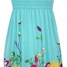 Smocked Top Sundress - Turquoise