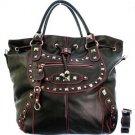 Accented Metallic Handbag
