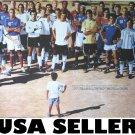 Zinedine Zidane soccer player group POSTER David Beckham Lionel Messi Adidas ad