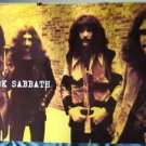 Black Sabbath burnt yellow horiz POSTER 34 x 23.5 Ozzy Osbourne early lineup