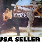 Bruce Lee & Chuck Norris poster 31 x 21 grainy karate SHIP FROM USA